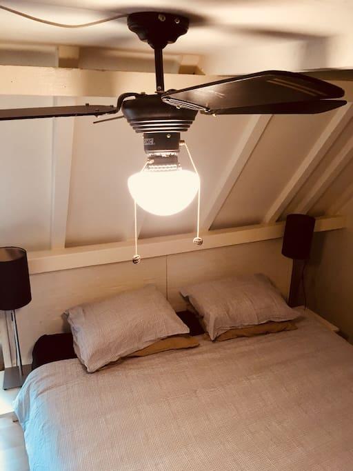 Ventilator indien warm op de kamer