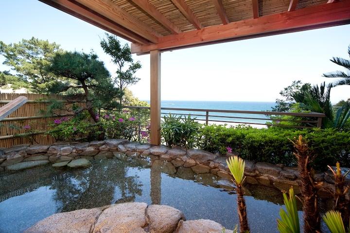 Ocean View, Japanese TATAMI Room. Japanese Ryokan
