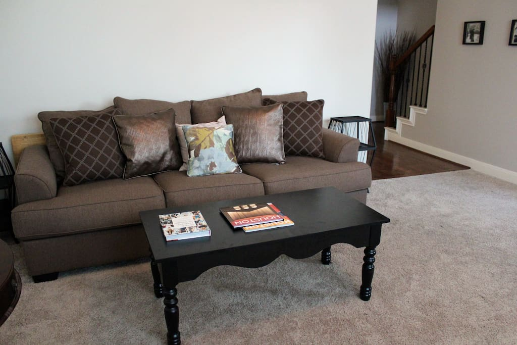 Comfy Sofa and Welcoming Living Room Area