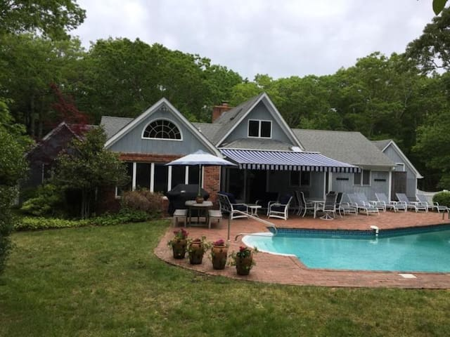 Retractable awning for the hot days of summer
