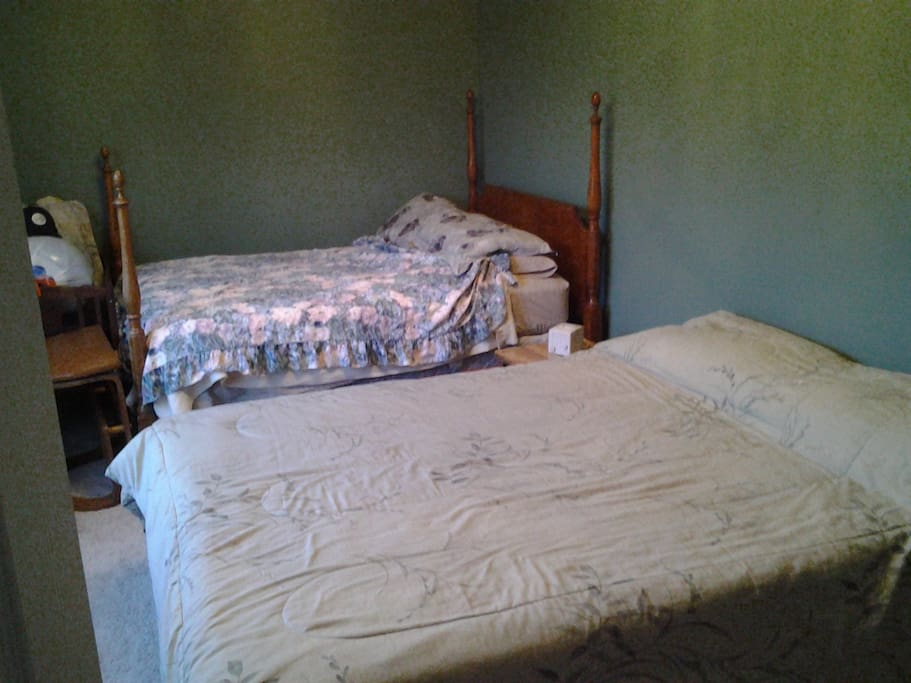 Private sunny bedroom with two beds houses for rent in for 7 bedroom house for rent in michigan