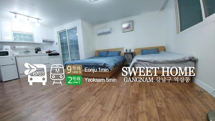 Gangnam Yeoksam COEX (1Q/1S Bed, Wifi)