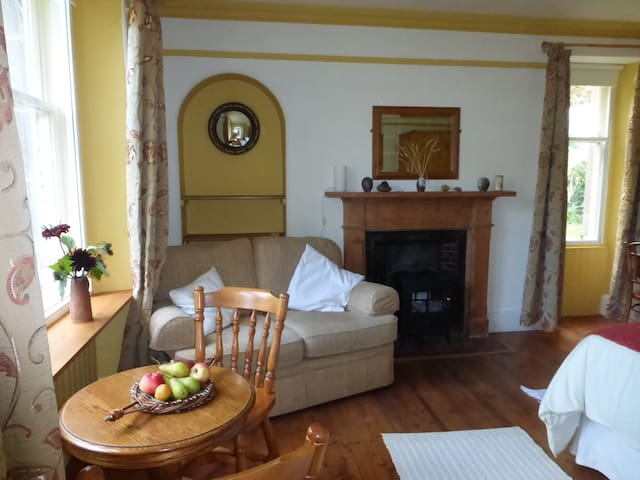 Tranquil room with own front door on organic farm