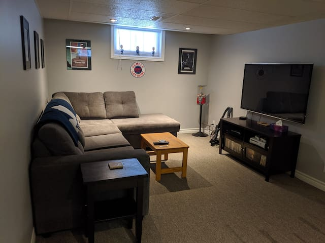 Basement apartment in quiet south-end