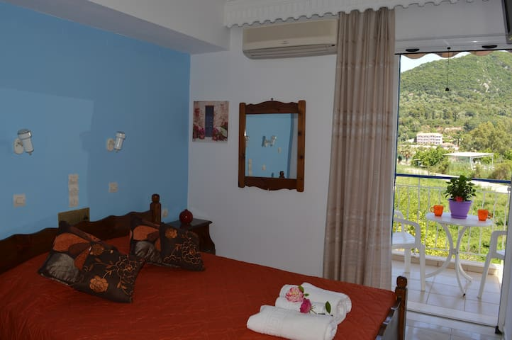 Eleni studios Nidri, double studio with sea view