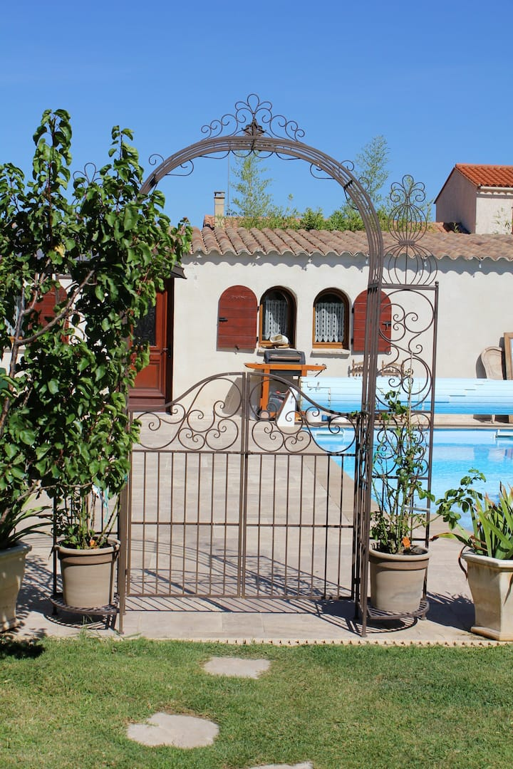 Villa with one bedroom in Canohès, with private pool and enclosed garden - 10 km from the beach