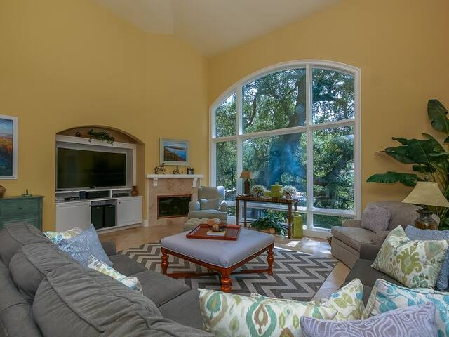 Bright and Open Living Area at 9 Beach Lagoon