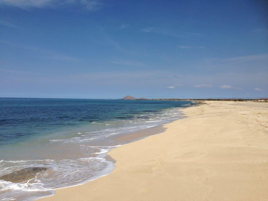The beach at Paradise Beach Resort
