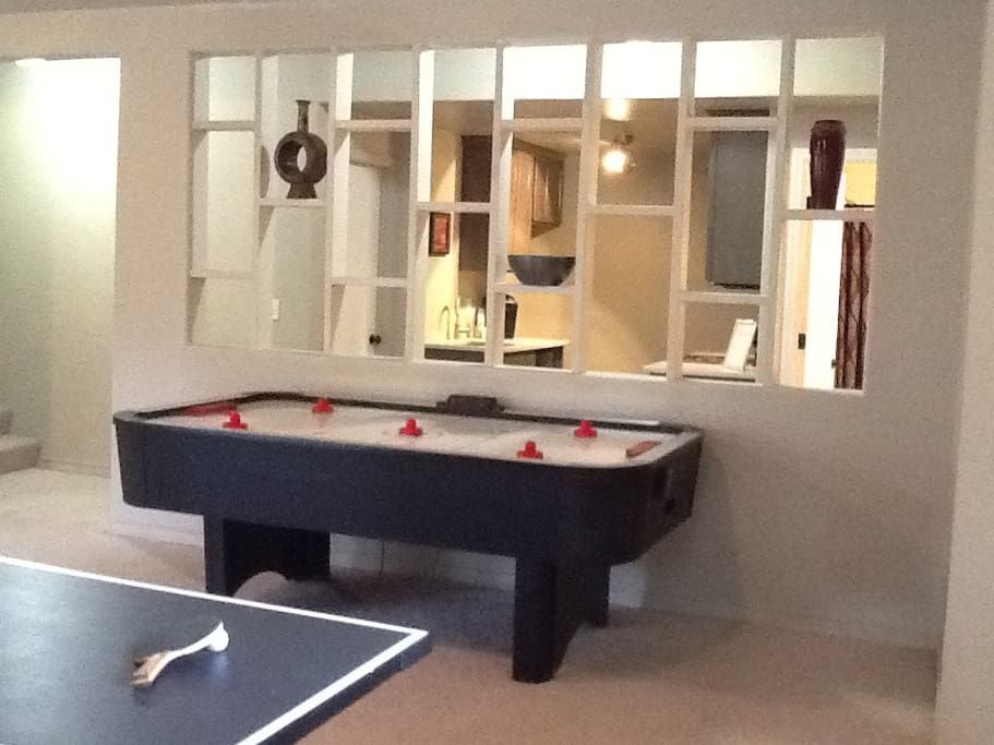 Air Hockey, Ping Pong all included.