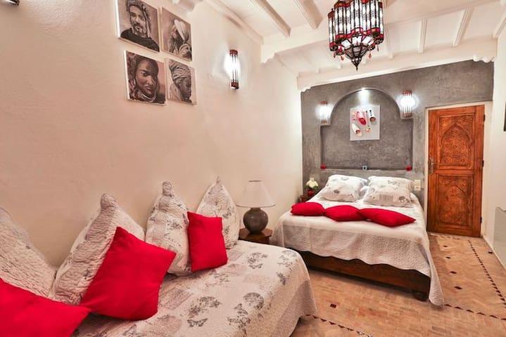 Riad l'Ayel d'Essaouira : Chambre Argane - Essaouira - Penzion (B&B)
