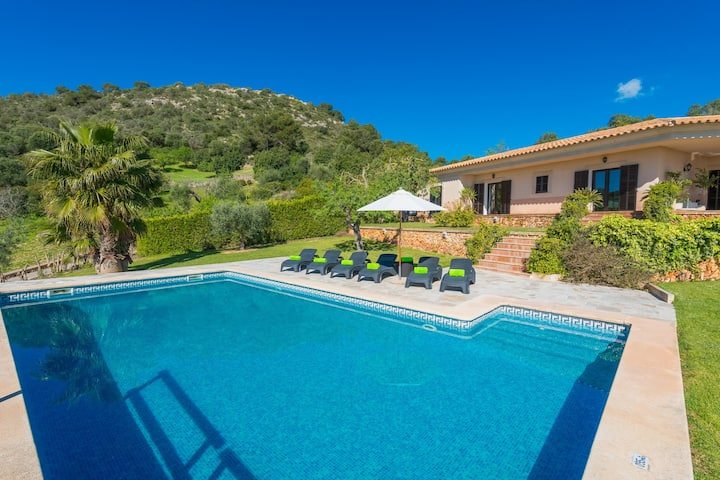 SA ROCA BLANCA - Amazing villa with private pool and breathtaking views. Free WiFi