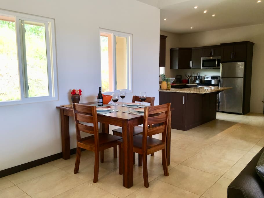 Dining area facing kitchen
