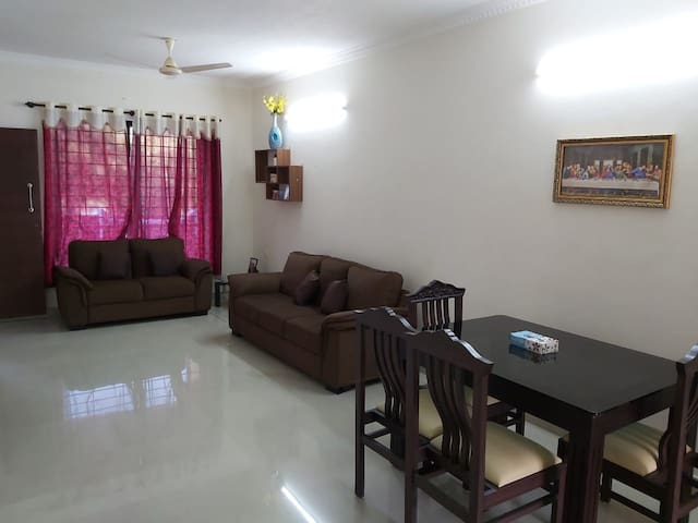 Modern 1-Bed apartment close to Mangalore Airport