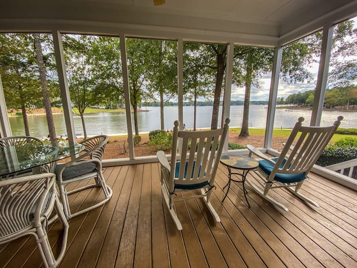 Lookout Point is only steps from Lake Oconee with breathtaking views