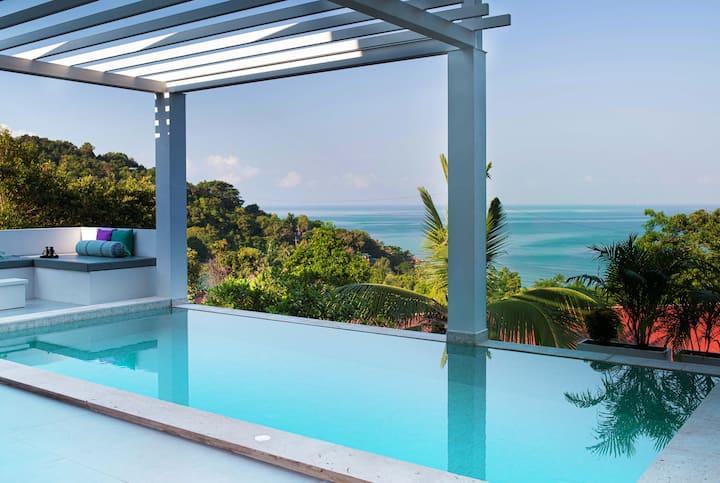 NEW Seaview pool villa, walking distance to beach