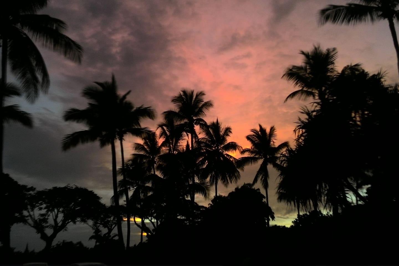 Coucher de soleil tropical.