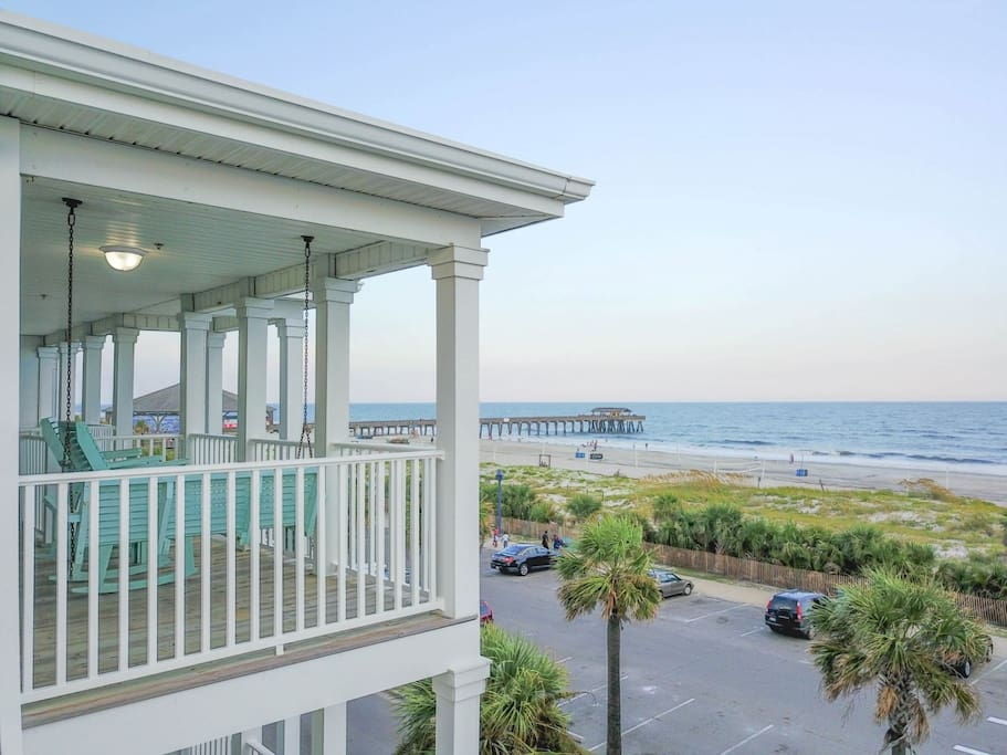 Enjoy Spectacular Panoramic Vistas of the Atlantic Ocean and Tybee Beach from your Private Ocean Front Balcony