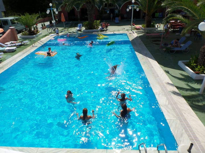Shared studio for 6 near the best beaches of Corfu