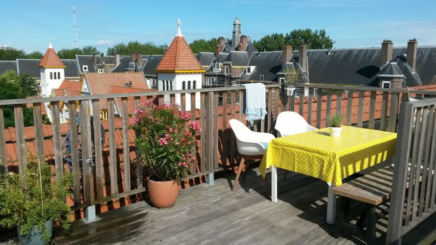 Family apartment with roof terrace near centre
