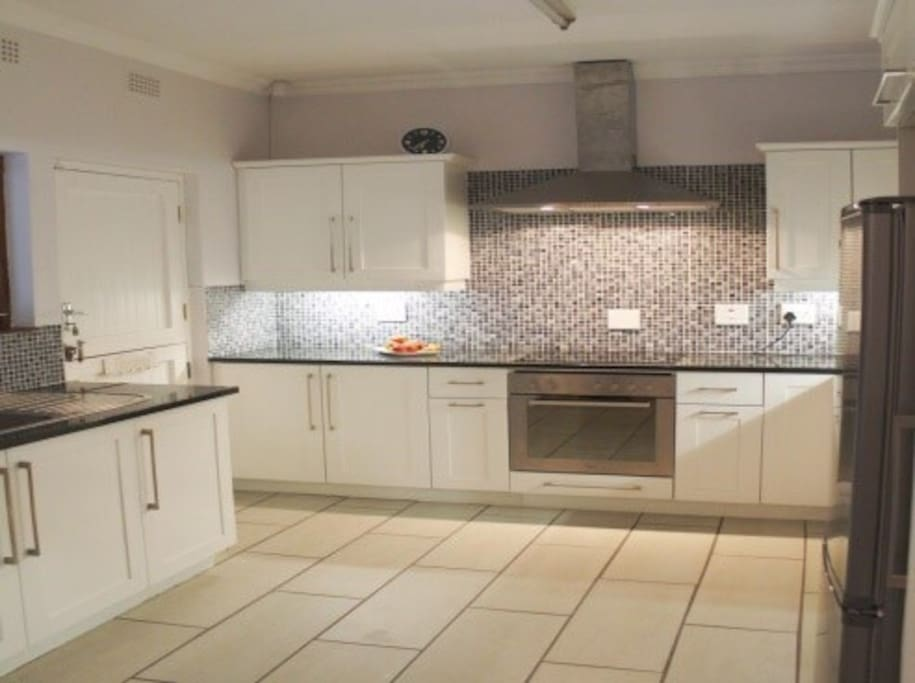 Spacious and fully stocked self-catering kitchen