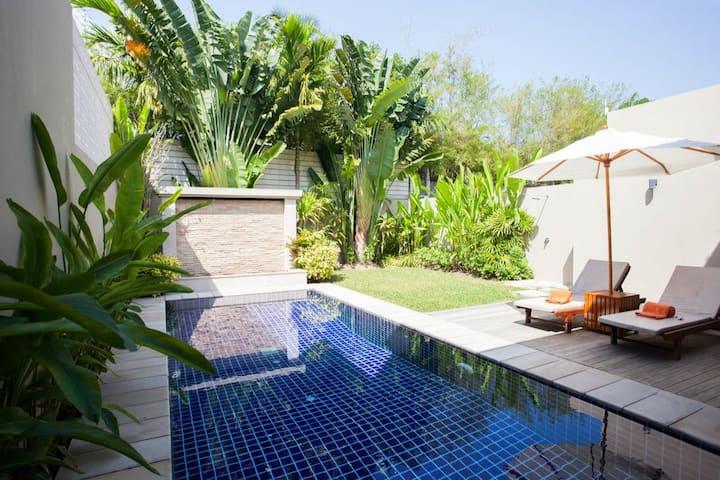 Luxury 2BD pool villa. Ace Location. Bangtao Beach
