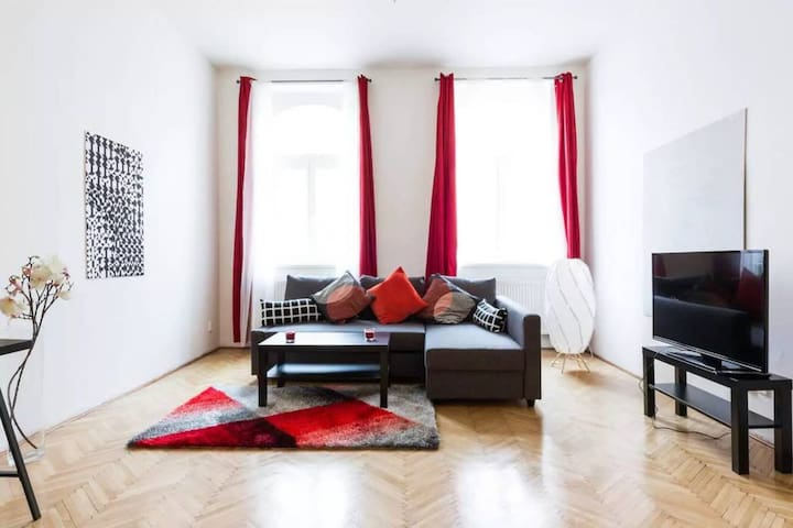 Bright & Spacious 8 person Apt 10 min from centre