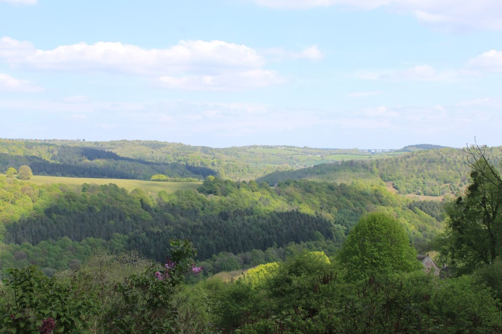 View across the Wye to Forest of Dean