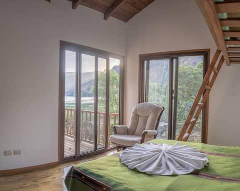 Privat hytte med udsigt over søen i nærheden af San Marcos 1
