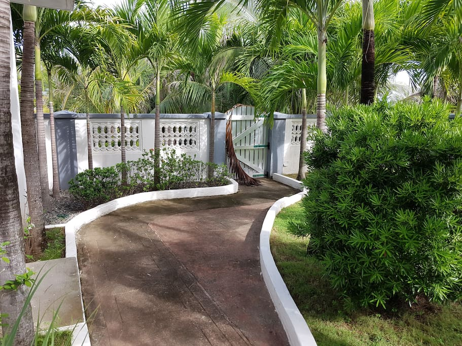 Path from guest room to beach