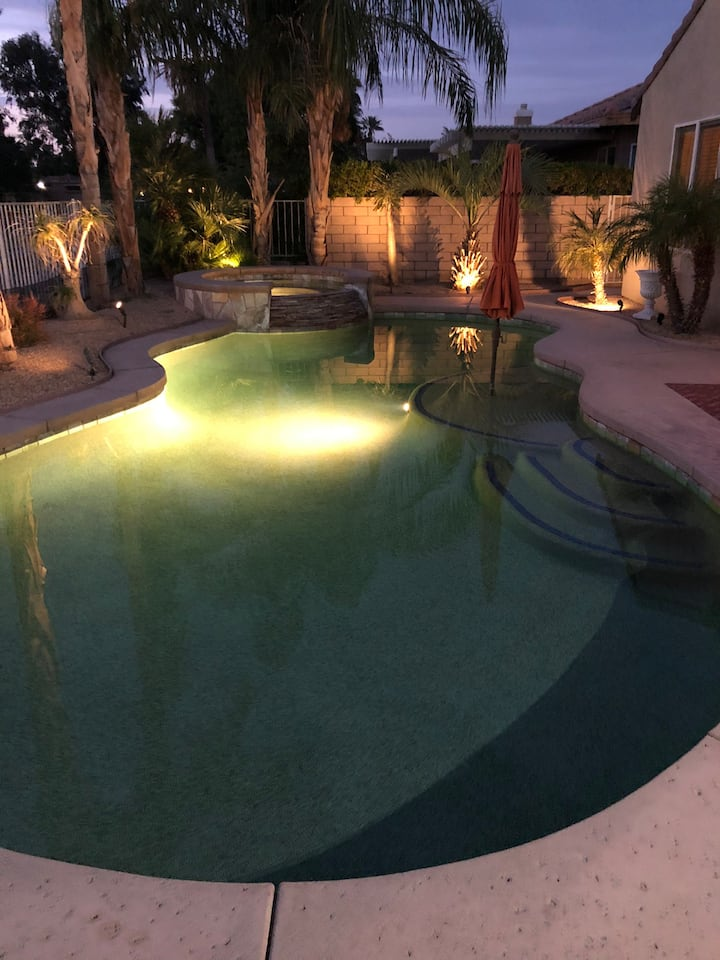 Desert pool home
