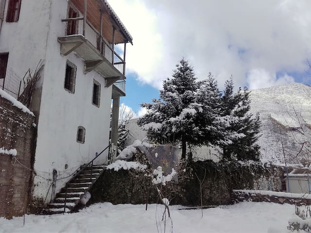 Leonidas 1br aprt in stone villa built in 1862
