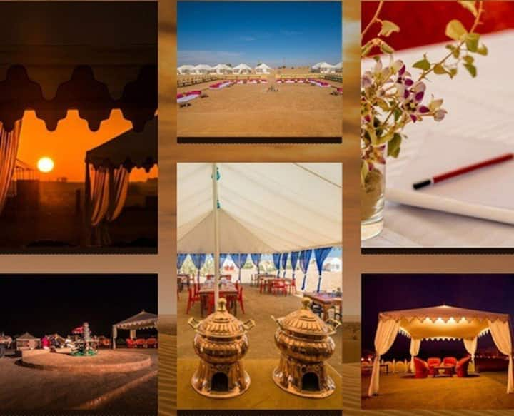 Charming Swiss Tent at Desert Camp and Safari