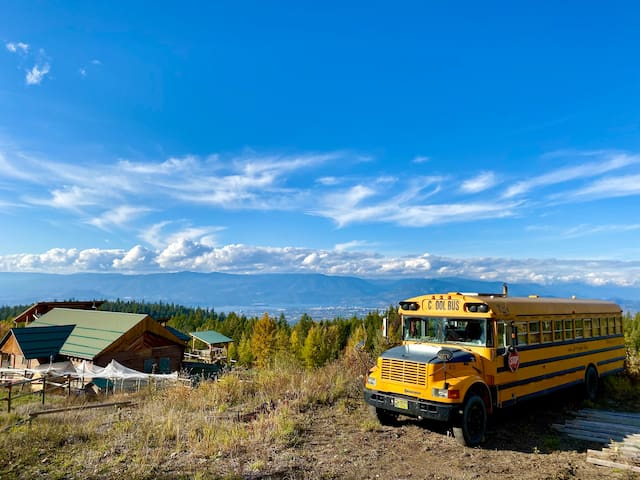 School bus - now a romantic RV