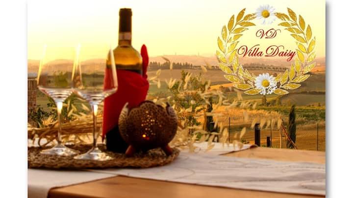 """""""Villa Daisy"""" con vista su Siena"""