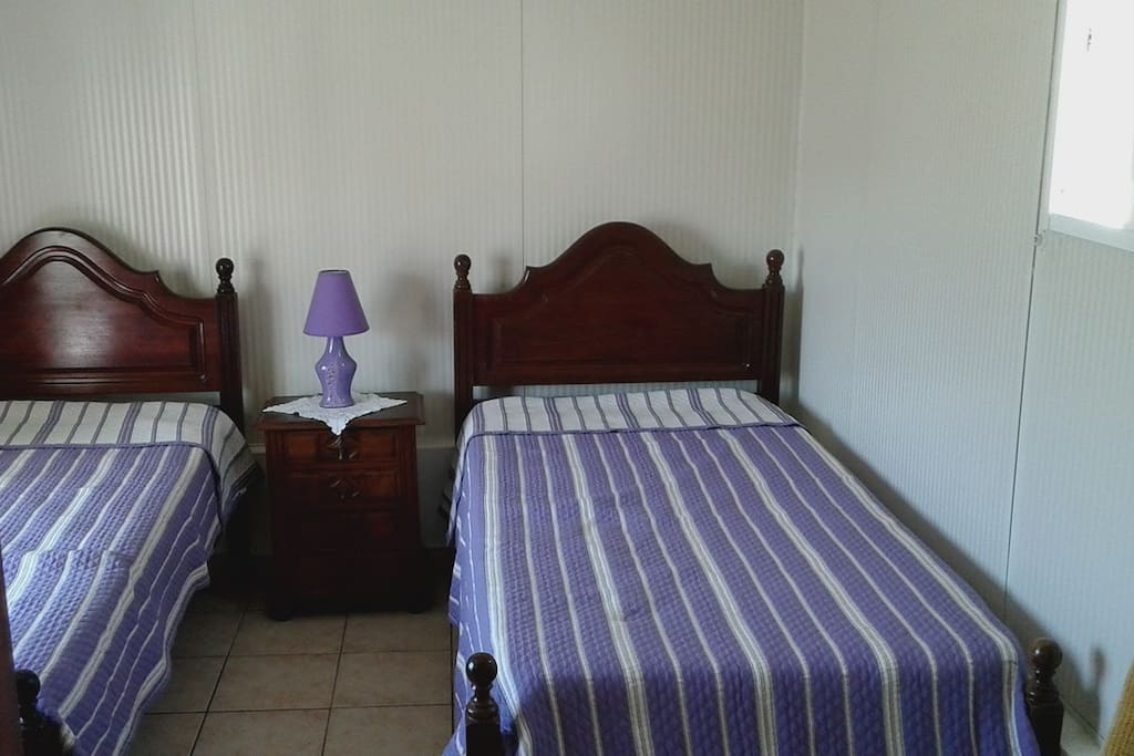 Two single or one double bed.  You decide.