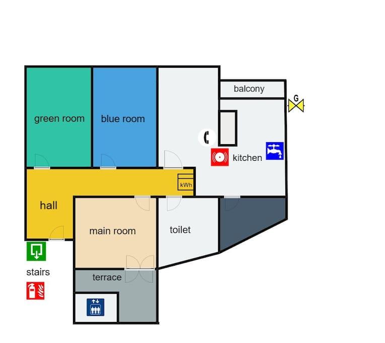 Plano del piso turístico