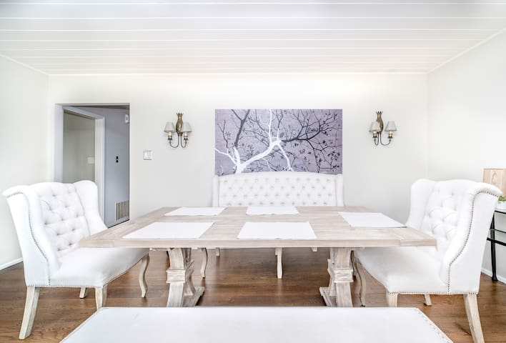 Spacious dining table