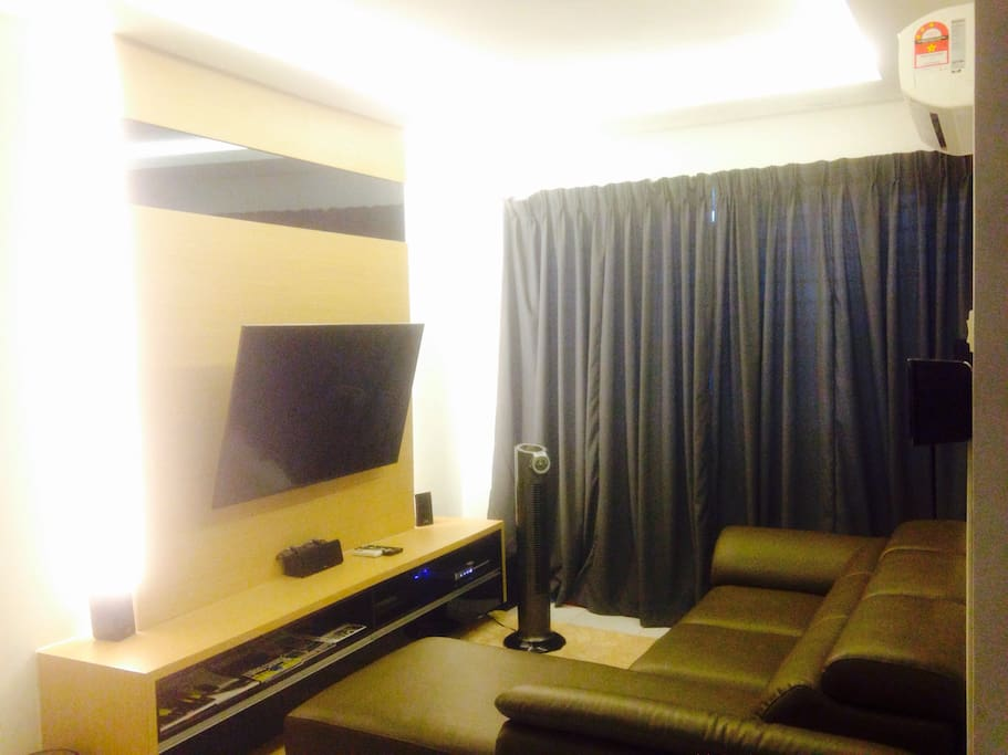 """Yamaha 5.1 Home Speaker + Sony 55"""" Smart Internet Tv  Come with Tinted and Custom make curtain ."""