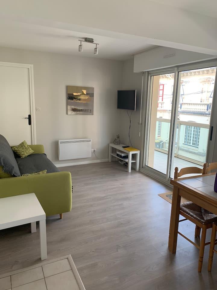 Appartement 2/4 personnes avec balcon -en centre