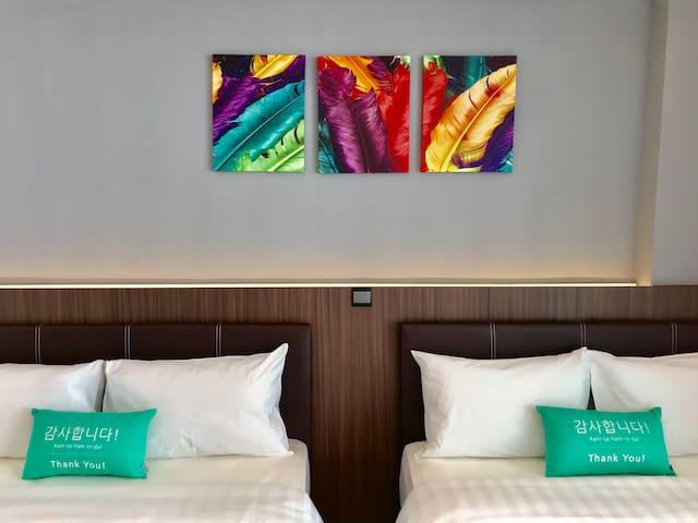 简易风格空中花园公寓 [近机场] (四人) A2 4pax Cozy SkyGarden Suite