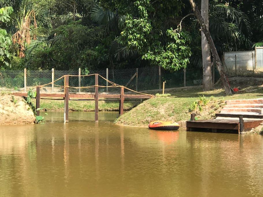 new bridge and deck
