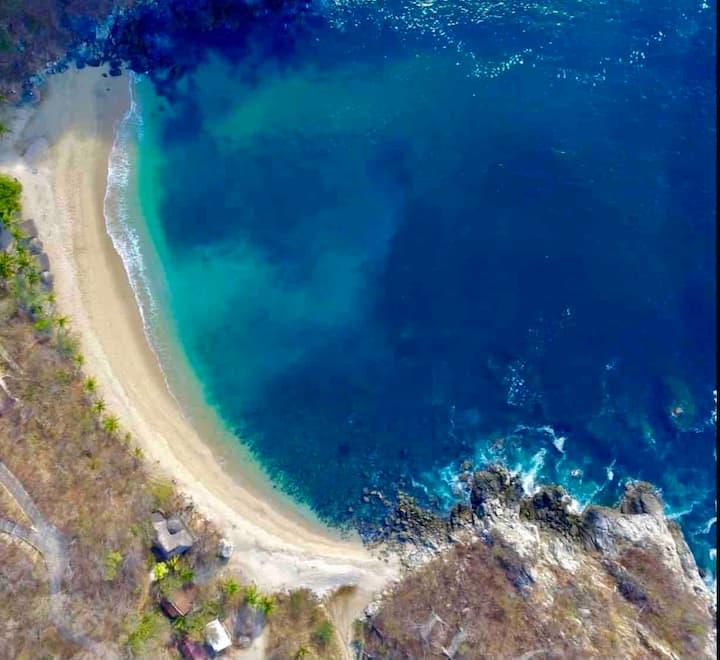 Tree house Pergola Swimming pool at a virgin beach
