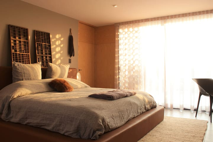 Beautiful Design Flat with Terrace in Puebla