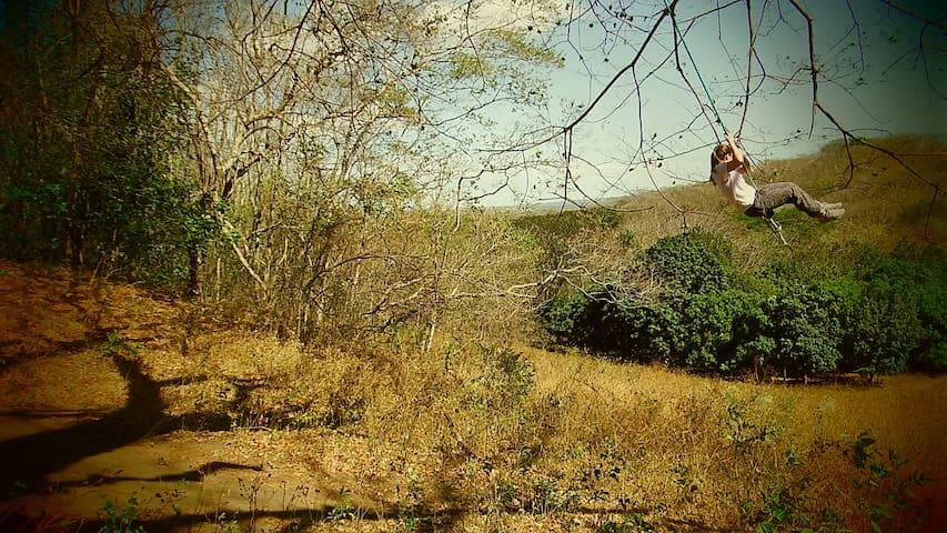 Spectacular rope swing 2 min. walk from Casa Abierta