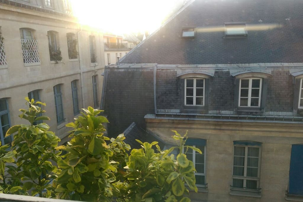 amazing view from the bedroom on Mansart s roof. from this window, at night you can see Eiffel tower light ray! It s magic.