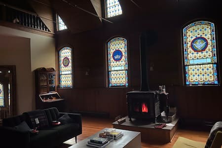 Picturesque converted church in the Catskills