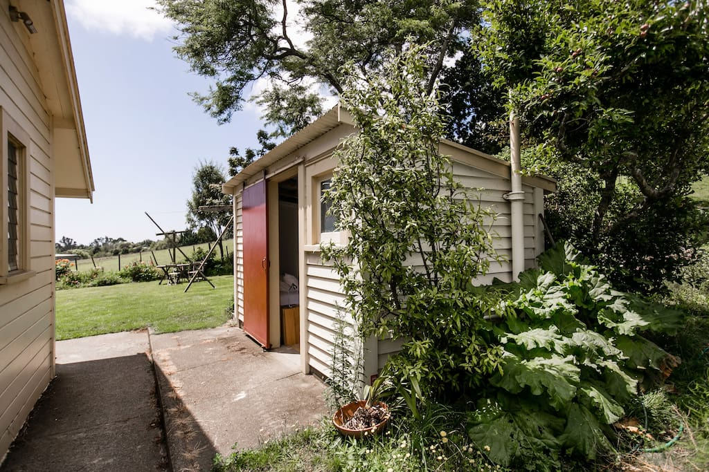 The Summer Studio is a converted shed, separate from the lodge building
