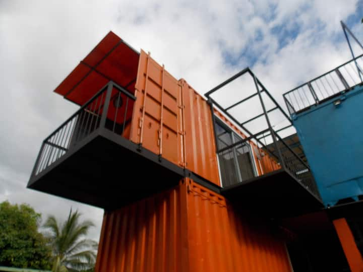 Shipping containers beach apart  Wander Oceania