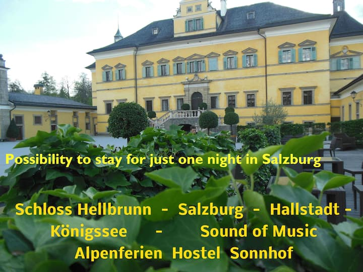 Possibility to stay for just one night in Salzburg