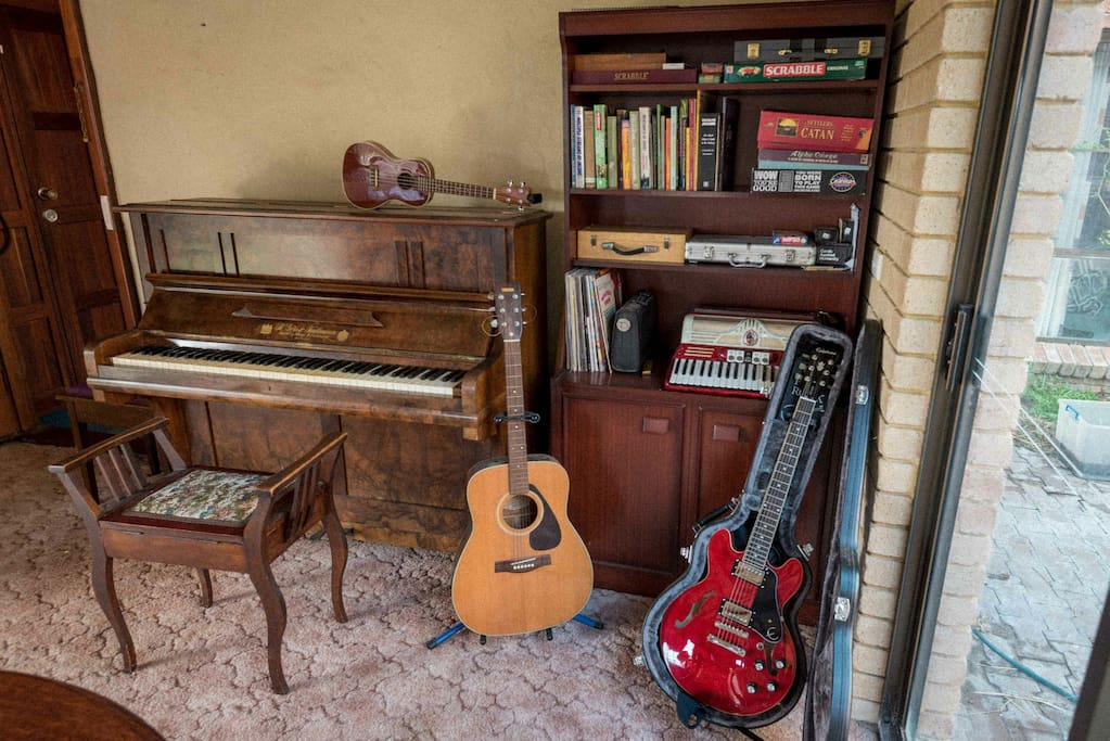 Instruments and games a plenty